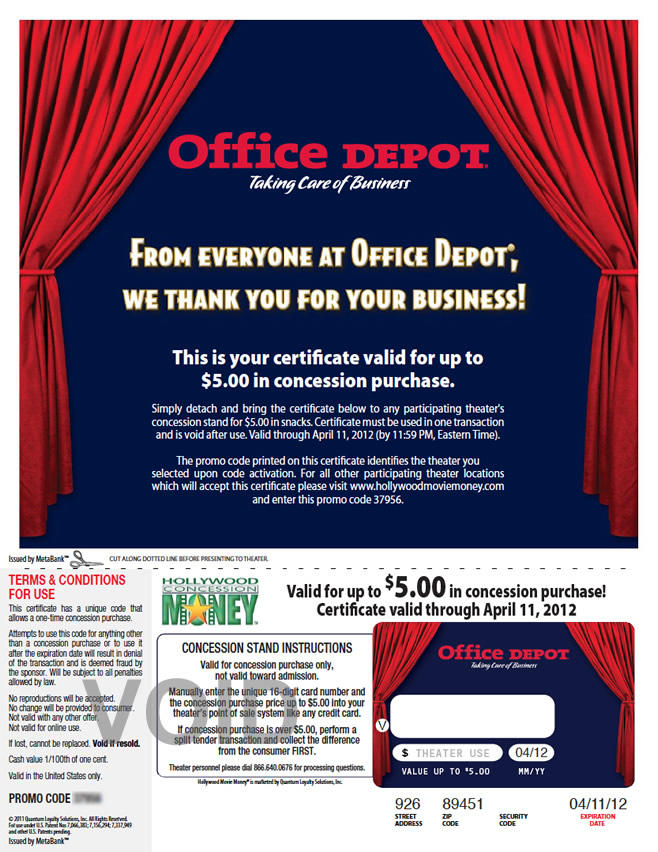 Office depot fandango rewards view programs by reheart Image collections