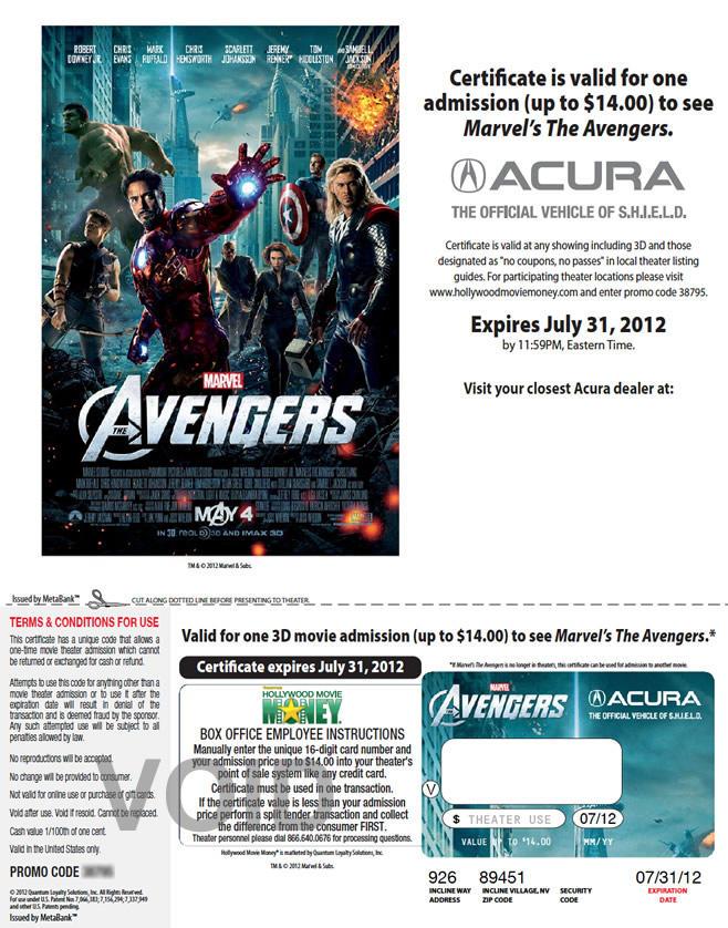 Acura - Avengers