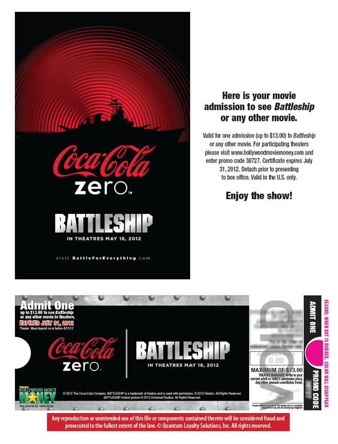 Coke Zero - Battleship