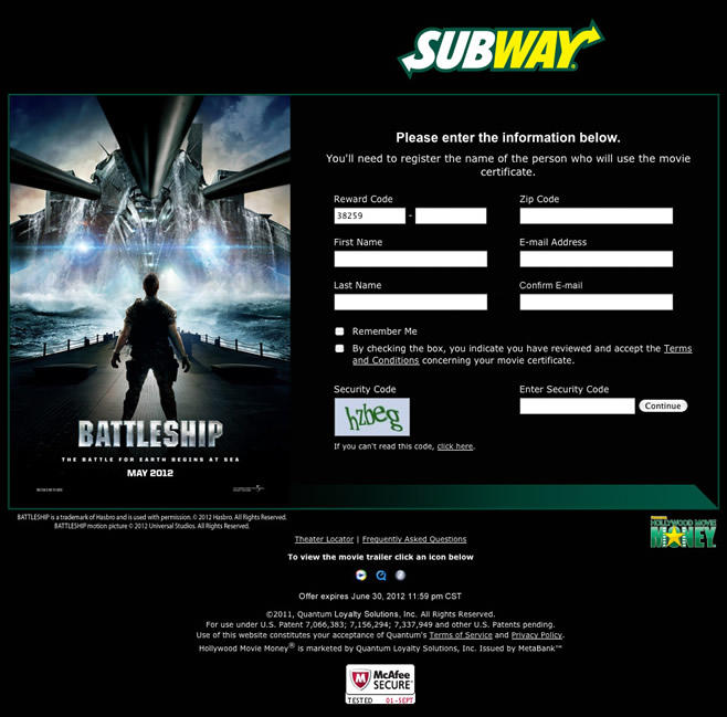 Subway - Battleship