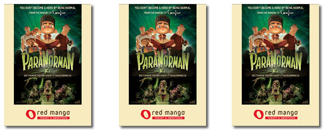 Red Mango/ParaNorman collector cards