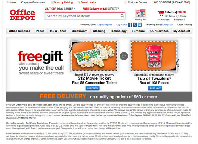 Office Depot summer promotion