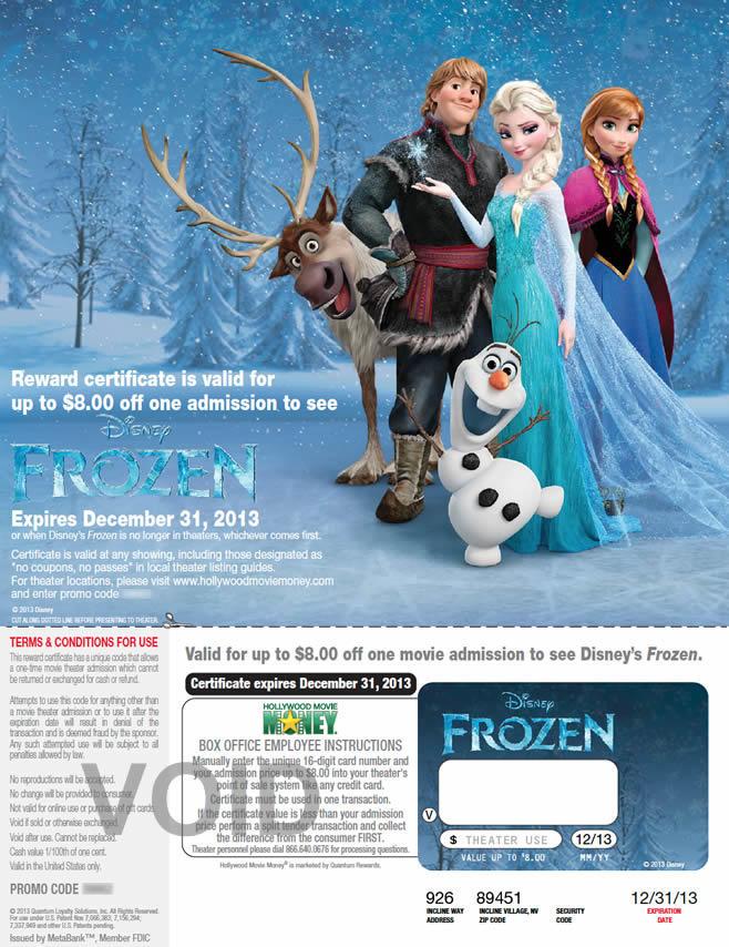 Target Frozen ticket