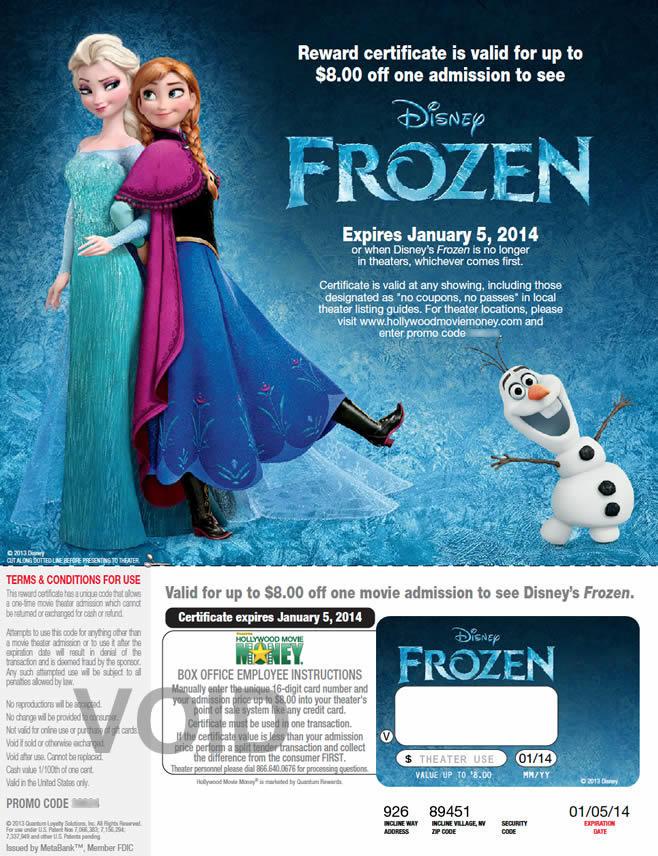 Walmart Frozen ticket