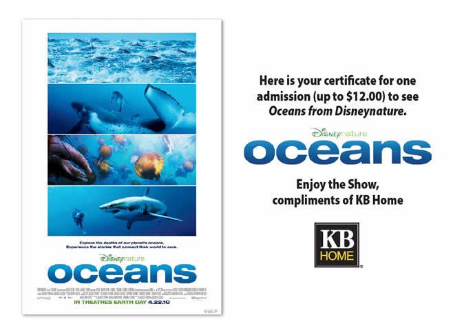KB Homes - Oceans movie ticket