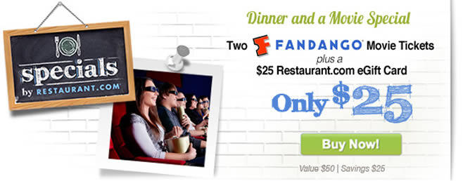 Restaurant.com - Fandango Rewards