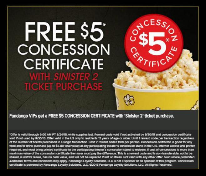 Focus Features concession promotion