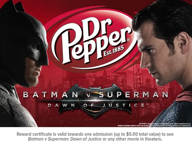 Dr Pepper - Batman v Superman