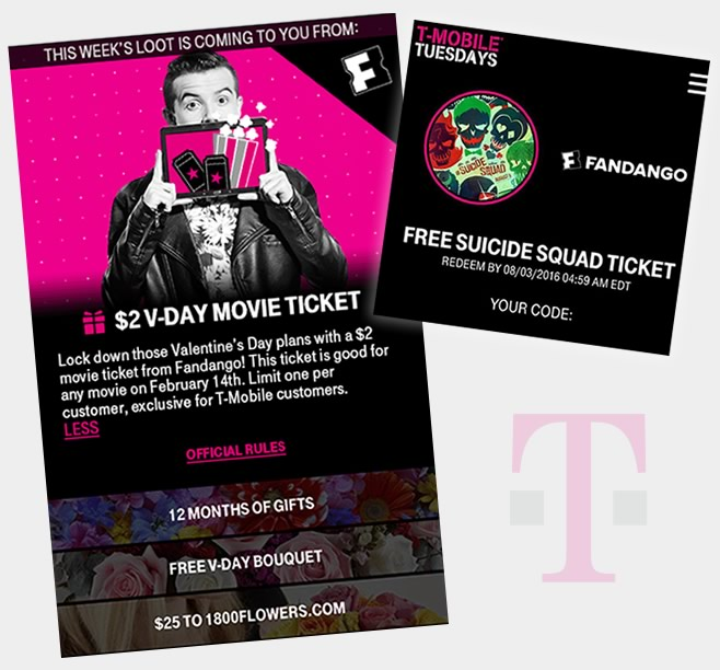 T-Mobile - Fandango Rewards