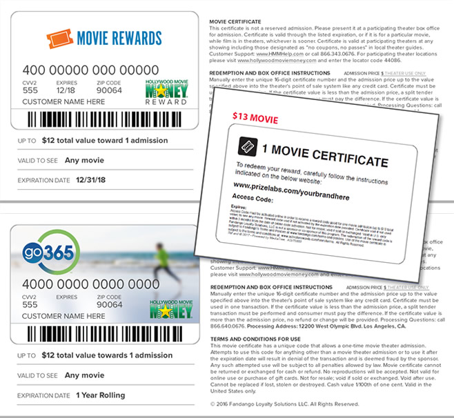 Movie Tickets as Loyalty Rewards