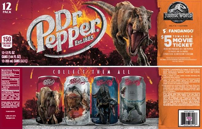 Dr Pepper-Jurassic World