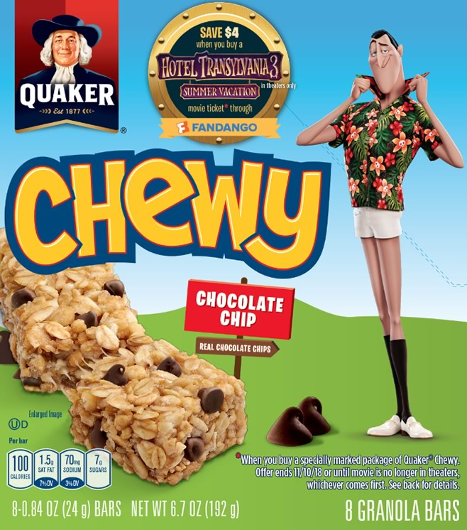 Quaker Chewy and Life-Hotel Transylvania 3