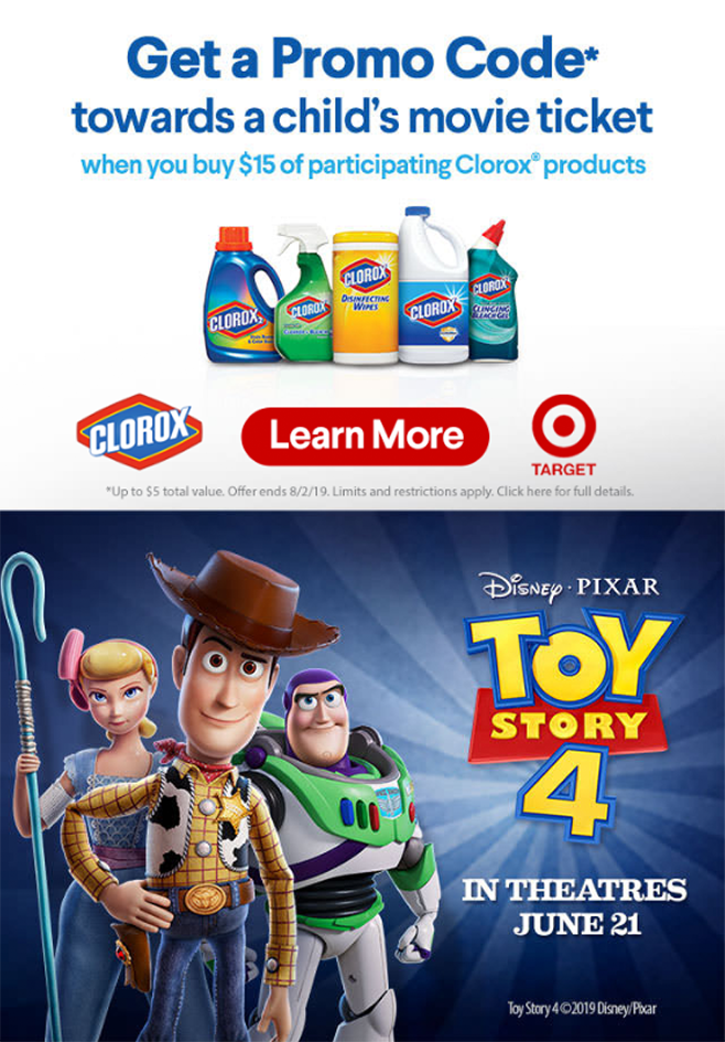 Clorox-Toy Story 4