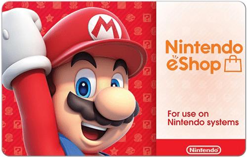 Nintendo eShop Digital Cards